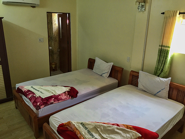 My room at the Khanh Phuong Hotel