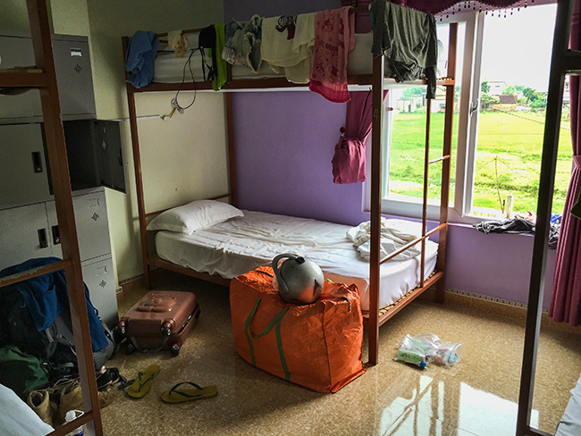 My bunk bed at Thien Phu Hostel