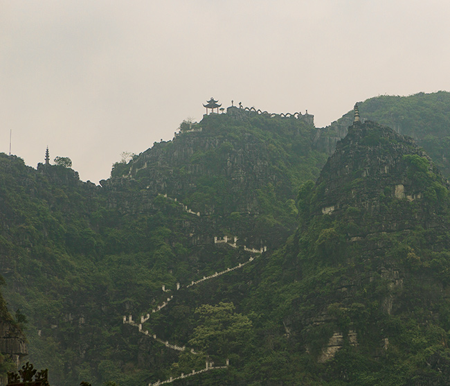 Hang Mua Temple in the mist