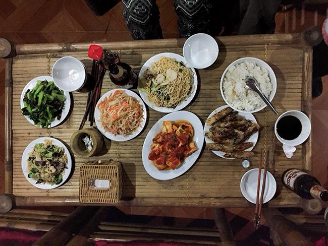 Plenty of food: Dinner at Chez Beo